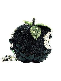 Mary Frances Wicked Beaded Apple Handbag, Black