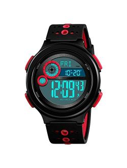 Boys' Watches, Huge Dial Cool Chirstmas Gifts 100M Waterproof Sports Casual Wristwatch for Boys Girls Youth Ages 11-15