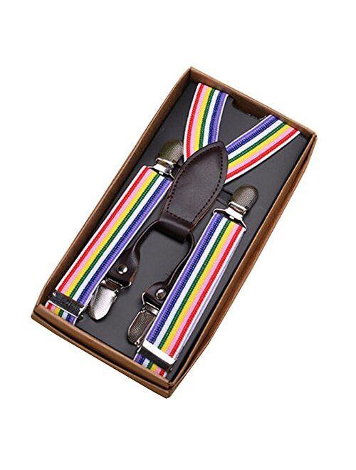 Kids Elastic Braces Clip 4 Clips-on Adjustable Suspenders
