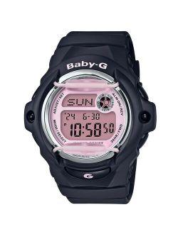 Bg169m-1 Women's Baby-g Digital Dial Black Resin Strap Watch
