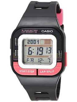 Girls' Runner Quartz Running Watch With Resin Strap, Black, 35.1 (model: Sdb-100-1bcf)
