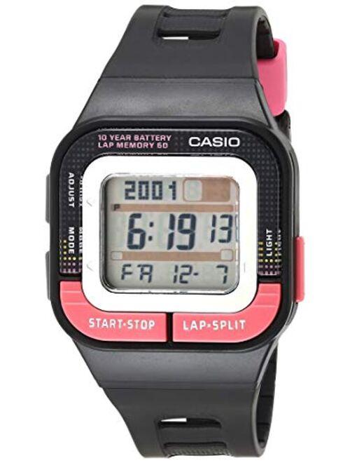 Casio Girls' Runner Quartz Running Watch with Resin Strap, Black, 35.1 (Model: SDB-100-1BCF)