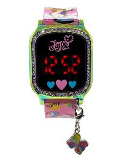 Kid's Jojo Siwa Pink Silicone Strap Touchscreen Watch 36x33mm