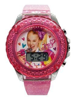 Kid's JoJo Swia Digital Pink Glitter Silicone Strap Watch 36mm