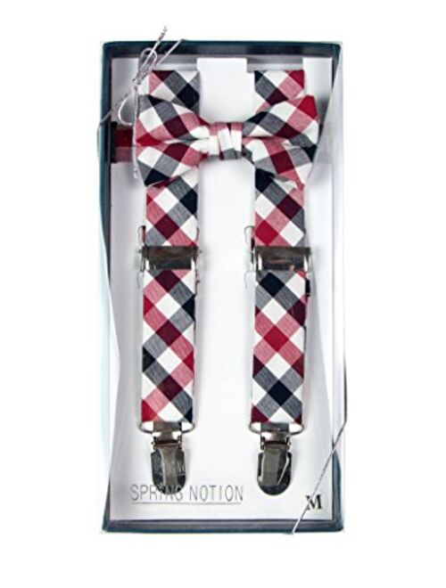 Spring Notion Baby Boys' Cotton Suspender and Bow Tie Gift Set