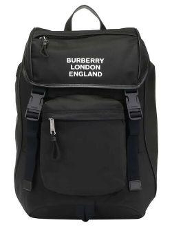 Black Logo Print Econyl Backpack