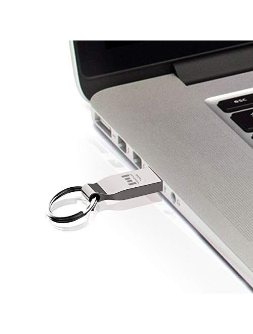 MOSDART 64GB USB Flash Drive Metal Keychain Zip Drive Waterproof Thumb Drive 64 GB USB2.0 Jump Drive 64G Memory Stick for Storage and Backup,Rose Gold