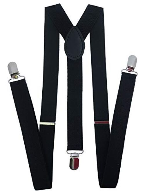 Navisima Suspenders for Kids - Adjustable Suspenders for Girls, Toddler, Baby - Elastic Y-Back Design with Strong Metal Clips