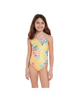 Girls Flower Girl Once Piece Swimsuit