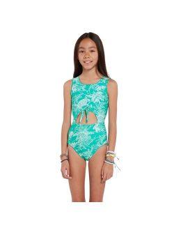 Girls Island Hop One Piece Swimsuit