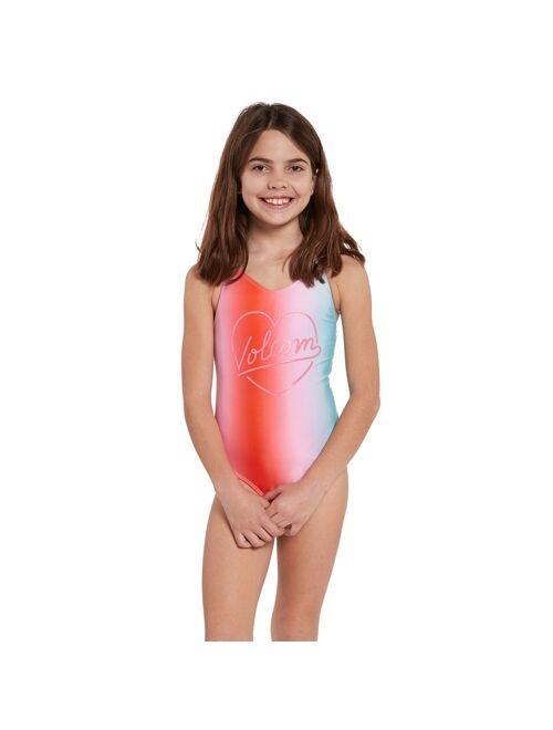 Volcom Girls Fun Dip One Piece Swimsuit