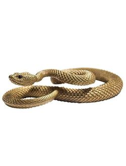 Brass Snake Car Keychain Key ring Pendant Black Zircon Eyes Handmade Hanging Mens Gift With Key Ring New