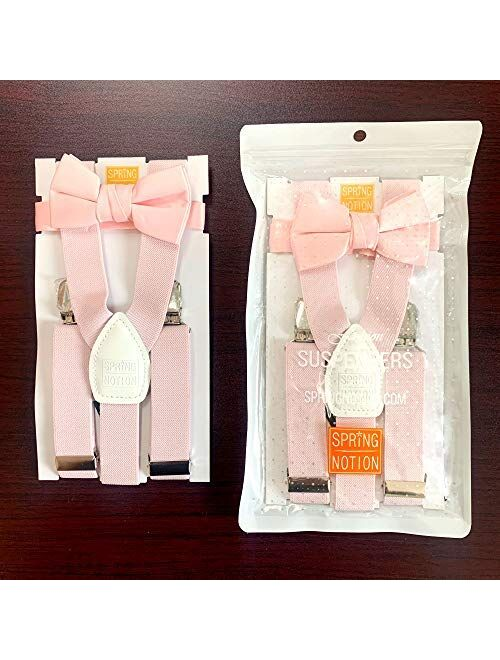 Spring Notion Boy's Suspender and Christmas Bow Tie Set