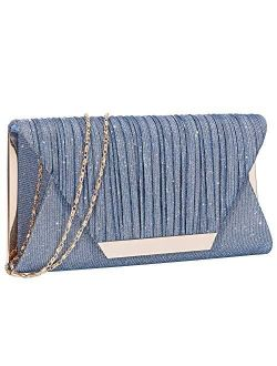 Glitter Clutch Purses for Women Evening Bags and Cluthes Flap Envelope Handbags Formal Wedding Party Prom Purse