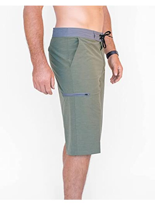 Maui Rippers Very Long 4 Way Stretch Boardshorts 24 Inch Outseam