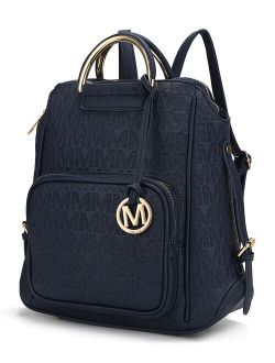 Navy Signature Zip Backpack