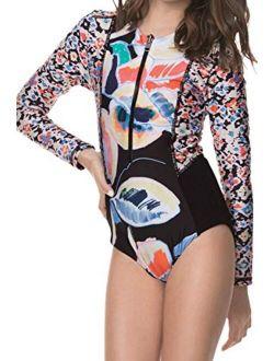 Printed Long Sleeves Girls Swimwear