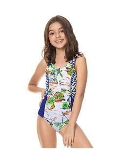 Polyamide Printed Backless Girls Swimwear