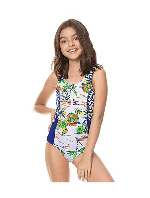 Maaji Polyamide Printed Backless Girls Swimwear