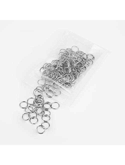 Pawfly 100 Pack 1/2 Inch OD Mini Small Split Jump Ring Bulk Rings for DIY Arts Crafts Organization