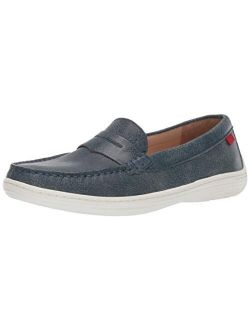 Unisex-child Leather Boys/girls Casual Comfort Slip On Moccasin Loafer Shoes Driving Style