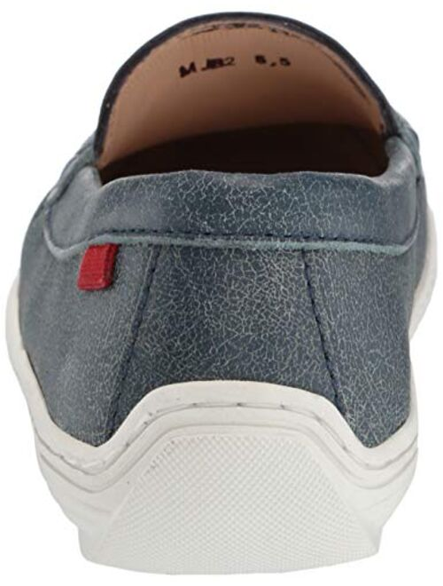 MARC JOSEPH NEW YORK Unisex-Child Leather Boys/Girls Casual Comfort Slip on Moccasin Loafer Shoes Driving Style