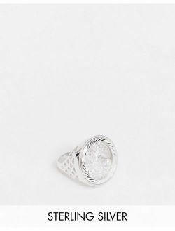 Chained & Able sterling silver st george sovereign ring