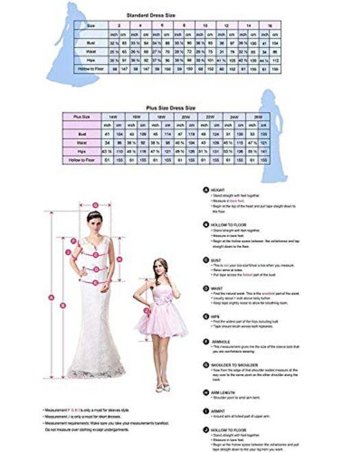 Kelaixiang Women's Mermaid Tulle Lace Applique Bridal Wedding Dress Open Back Sleeveless Prom Evening Dresses