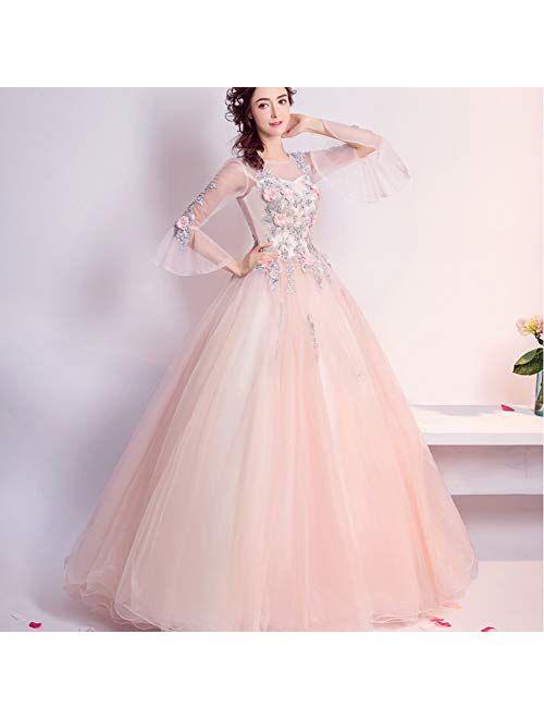Women's Wedding Dress Pink romance Evening Dress Wedding Evening Prom Gown Dresses full dress