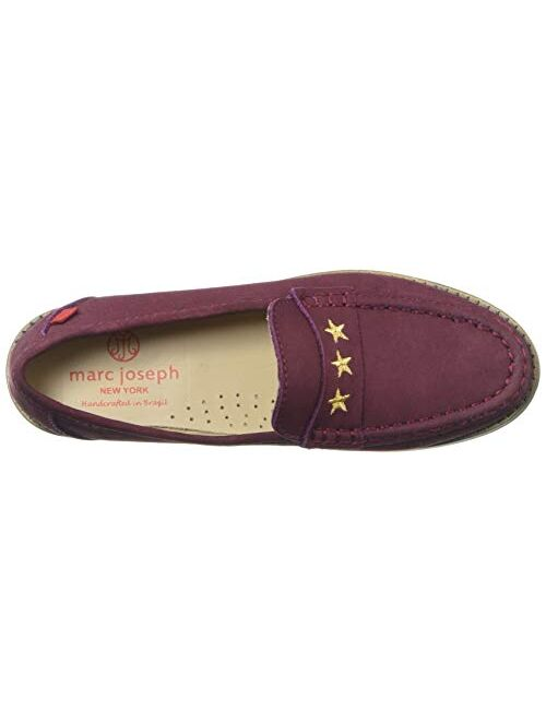 MARC JOSEPH NEW YORK Unisex-Child Leather Loafer with Gold Embroidered Star