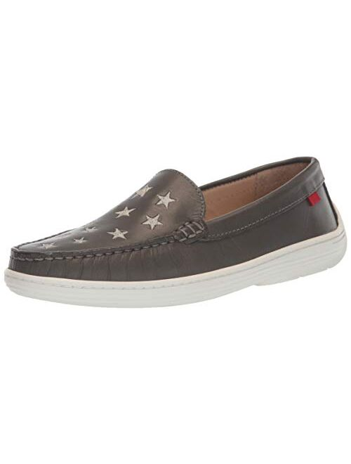 MARC JOSEPH NEW YORK Kids' Leather Driver with Gold Star Detail Loafer