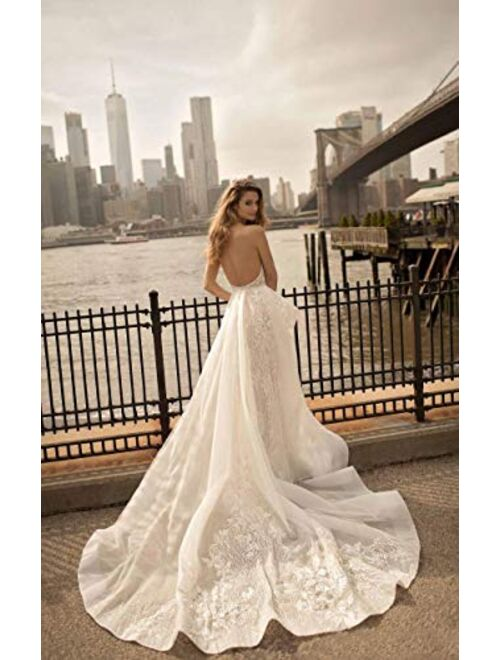 Fenghauvip Sweetheart Wedding Dress Appliques Sash Bridal Gowns with Sweep Train