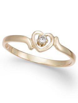 Children's Diamond Accent Heart Ring in 14k Gold