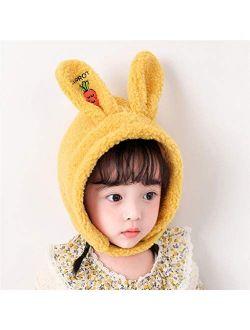PDGJG Cute Rabbit Ears Baby Hat Scarf Winter Warm Baby Girls Boys Hat Bonnet Bunny Ears Soft Kids Hat Beanie Children Cap (Color : B)