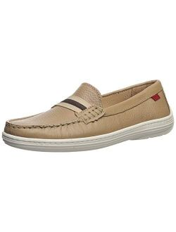 Kids Boys/girls Leather Elastic Grow Gain Loafer