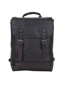 """Colombian Leather RFID Flapover 14.1"""" Laptop Backpack"""