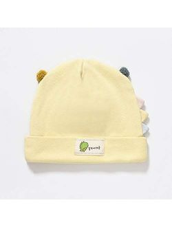 HGDD Fall and Winter Baby hat Cotton Pullover Newborn Dinosaurs Double Ball Cap 0-6 Months fetal Baby Warm hat (Color : D)