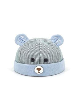 HGDD Autumn and Winter hat Cartoon Bear Children Landlord Personalized Baby Beanie hat (Color : Pink)
