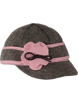Stormy Kromer Lil' Petal Pusher Cap - Decorative Wool Hat with Earflap