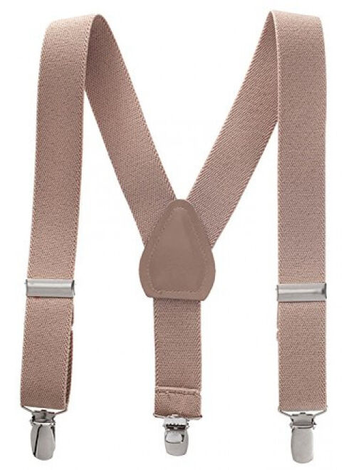 """Suspenders for Kids Boys and Baby - Premium 1 Inch Suspender Perfect for Tuxedo - Tan (22"""")"""