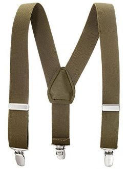 """Suspenders for Kids Boys and Baby - Premium 1 Inch Suspender Perfect for Tuxedo - Olive Green (26"""")"""