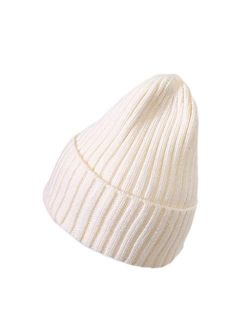 Toddler Knitted Winter Hat Boys Girls Acrylic Hat Baby Kids Warm Hats for Adults Kids Outdoors Cap (Color : Yellow, Size : Medium)