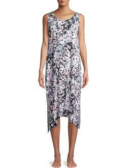 Women's And Women's Plus Midi Chemise Pajama Dress