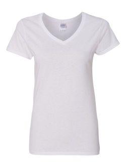 - Mf Women - Heavy Cotton Womens V-neck T-shirt