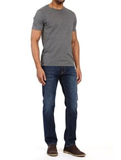 Mavi Men's Zach Regular Rise Straight Leg, Deep Brushed Organic Move, 32 x 36