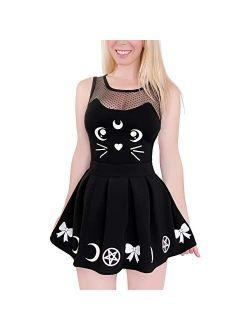 Cotton Romper Onesie Pajamas Bodysuit - Luna Onesie Skirt Set