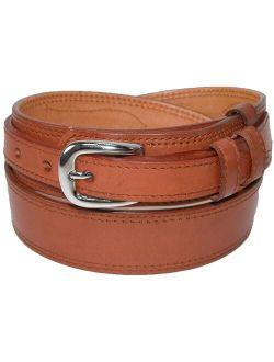 Size 42 Mens Leather Removable Buckle Ranger Belt, Tan