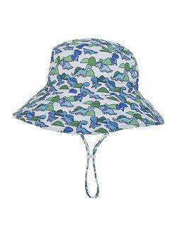 Hat Baby Sun Hat Boys Cap Children Panama Unisex Beach Girls Bucket Hats Cartoon Infant Caps UV Protection (Color : Gray, Size : 6 36 Months Baby)
