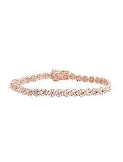 1 1/2 Carat Diamond Tennis Bracelet in 10K Gold (7 Inch)