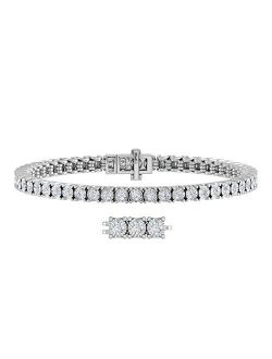 2 Carat Diamond Tennis Tennis Bracelet in 10K White Gold (7 Inch)